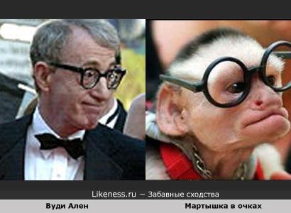 Вуди Аллен похож на Мартышку в очках