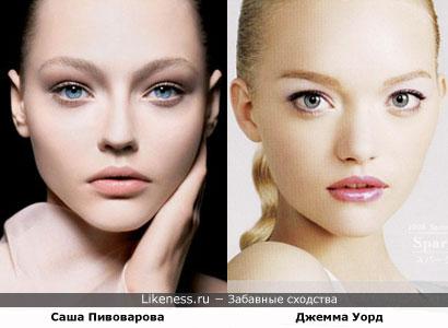 Саша Пивоварова похожа на Джемму Уорд
