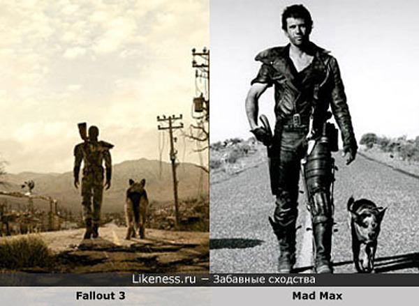 """Кадр из игры """"Fallout 3"""" похож на кадр из фильма """"Mad Max"""""""