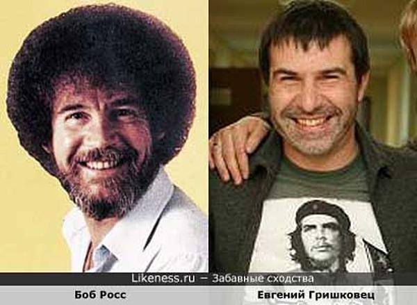 Боб Росс похож на Евгения Гришковца