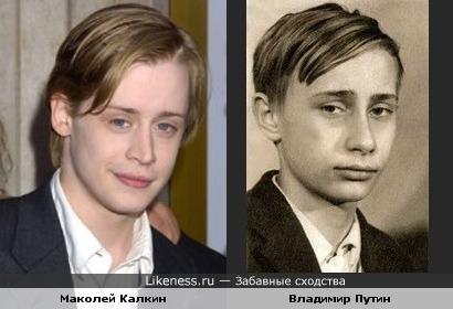 Маколей Калкин похож на Владимира Путина