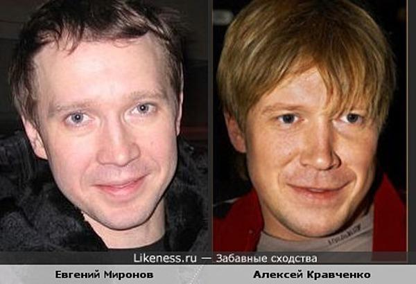 Похожие знаменитости: Евгений Миронов и Алексей Кравченко