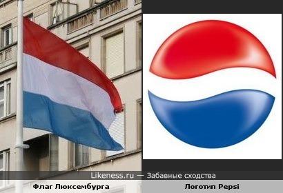 Флаг Люксембурга похож на логотип Pepsi
