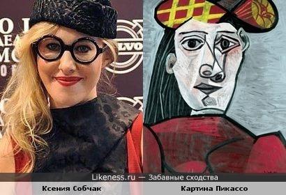 Ксения Собчак похожа на женщину с картины Пикассо