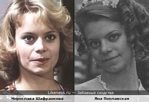 Мирослава Шафранкова и Яна Поплавская похожи