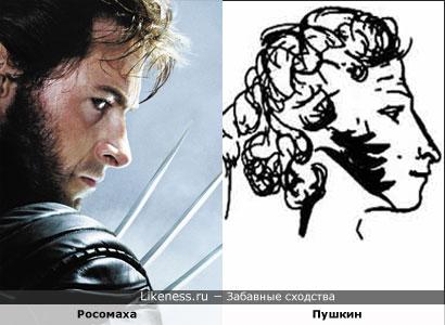 Росомаха похож на Пушкина