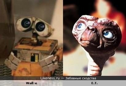 Wall-e похож на E.T.