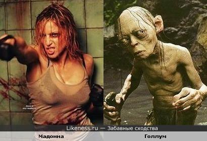 Мадонна похожа на Голлума