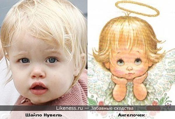 Шайло Нувель похожа на ангелочка