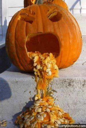 блюющая тыква (puking pumpkin)