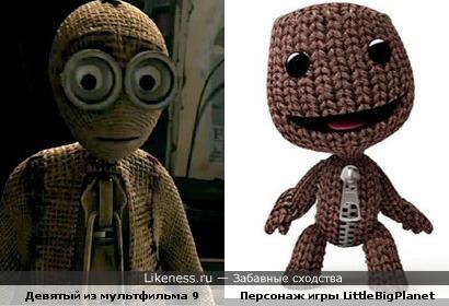 Девятый из нового мультфильма Тима Бёртона похож на персонажа игры LittleBigPlanet
