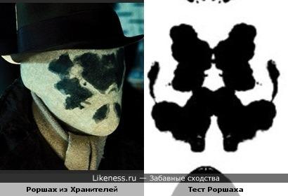 """Маска героя с именем Роршах из """"Хранителей"""