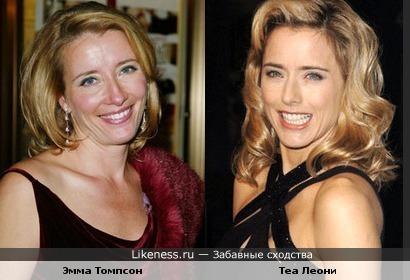 Эмма Томпсон похожа на Теа Леони