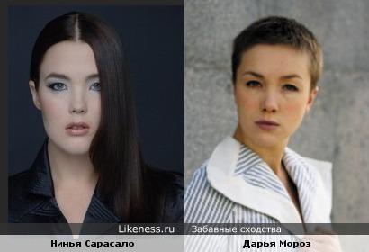 Финская фотомодель Ninja Sarasalo похожа на Дарью Мороз