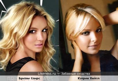 Бритни Спирс похожа на Кэтрин Хейгл