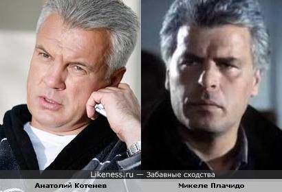 Анатолий Котенев похож на Микеле Плачидо