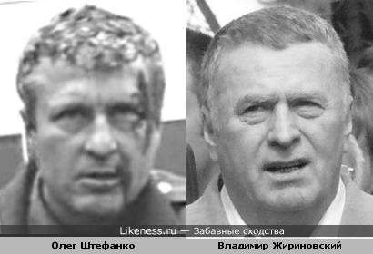 Олег Штефанко похож на Владимира Жириновского
