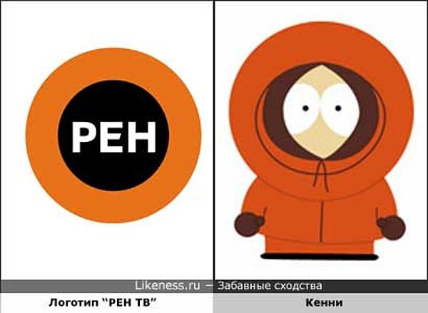 "Логотип ""РЕН ТВ"" похож на Кенни (""Южный парк"")"