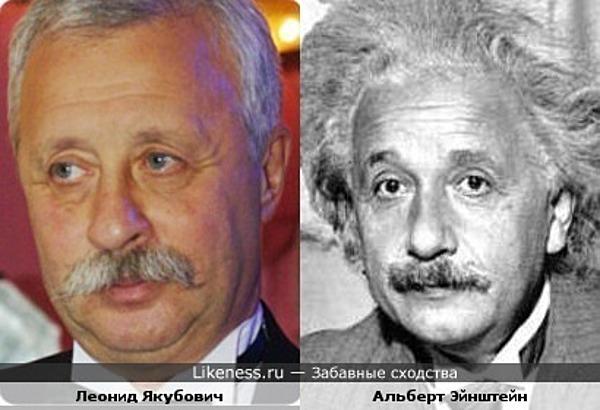 Леонид Якубович похож на Альберта Эйнштейна