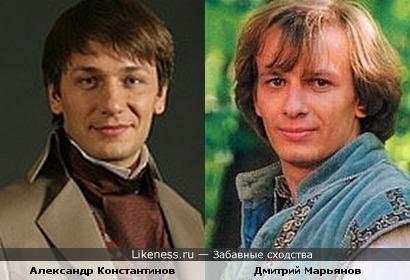 Александр Константинов похож на Дмитрия Марьянова