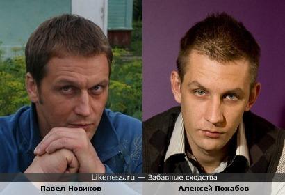 Павел Новиков похож на Алексея Похабова
