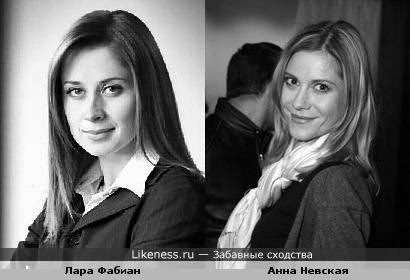 Лара Фабиан похожа на Анну Невскую