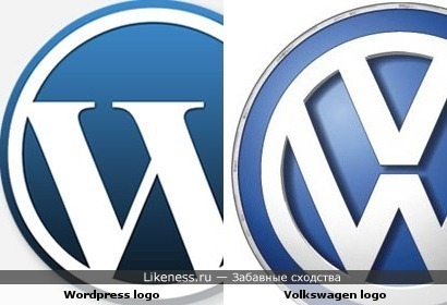Логотип Wordpress похож на логотип Volkswagen