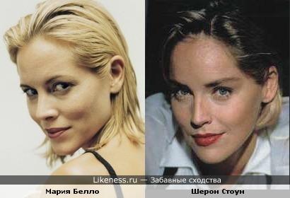 Мария похожа на Шерон?