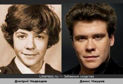 Медведев-школьник похож на Мацуева