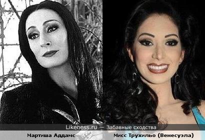 Участница Мисс Венесуэла похожа на Мартишу Аддамс