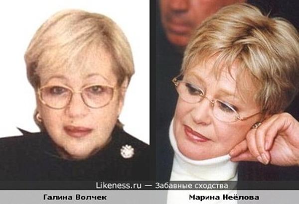 Галина Волчек и Марина Неёлова похожи
