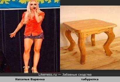 Наталья Варвина и табуретка имеют много общего