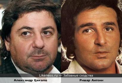 Александр Цекало и певец Ришар Антони