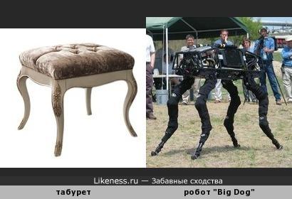 """Табурет в стиле барокко напомнил робота """"Big Dog"""""""