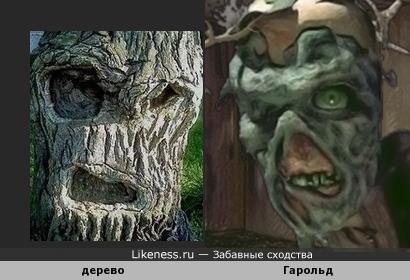 """Ствол дерева напомнил Гарольда из игры """"Fallout"""""""