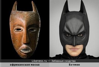 Африканская маска напоминает Бэтмена