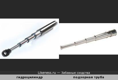 Гидравлический цилиндр напоминает подзорную трубу