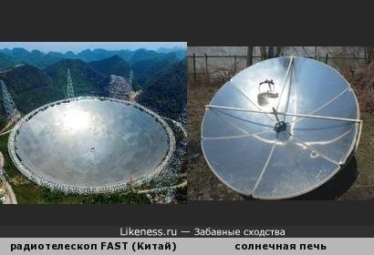 500-метровый радиотелескоп и солнечная печь