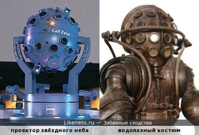Проектор звёздного неба и водолазный шлем