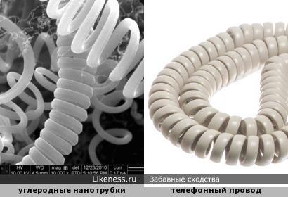 Углеродные нанотрубки напоминают телефонный провод