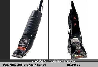 Машинка для стрижки волос напоминает пылесос