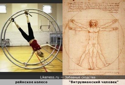 """Рейнское колесо напоминает рисунок Леонардо Да Винчи """"Витрувианский человек"""""""