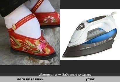 Нога китаянки напоминает утюг