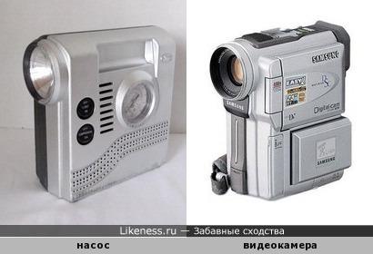 Насос напоминает видеокамеру