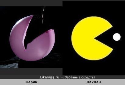 Лопающийся шарик, снятый на высокоскоростную камеру, напоминает Пакмана