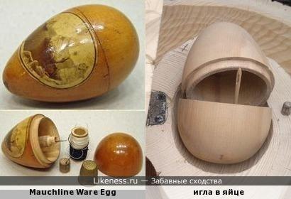 Старый английский футляр для швейных принадлежностей напомнил яйцо со смертью Кощея Бессмертного