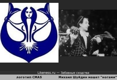 """Логотип Всемирной конфедерации подводной деятельности (CMAS) напоминает цирковую репризу """"Лошади"""