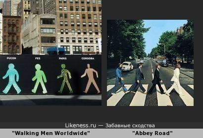 """Фрагмент художественной инсталляции """"Walking Men Worldwide"""