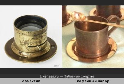 Объектив фотокамеры «Aplanat» конца XIX века напоминает турецкий кофейный набор