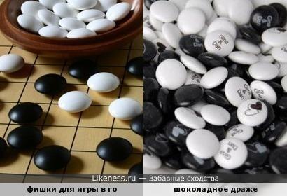 """Фишки для игры в китайскую настольную игру в """"го"""